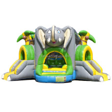 commercial outdoor shooter challenge elephant inflatable bouncer/ jumping bouncy castle bounce house with slide combo for game