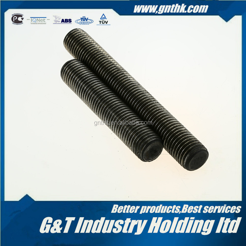 "STUD BOLT 1-1/2*LENGTH(from 25mm-10000mm or 1""-32FT) ASTM A193 B7 PLAIN FULL THREADED"