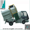 Electric garbage trucks, Garbage truck with sealed rear box for liquid waste