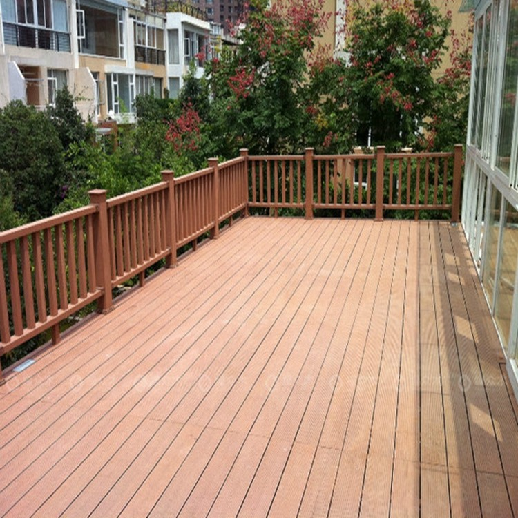 elegant deck floor covering co-extrusion wpc decking exterior 100% pvc outdoor decking