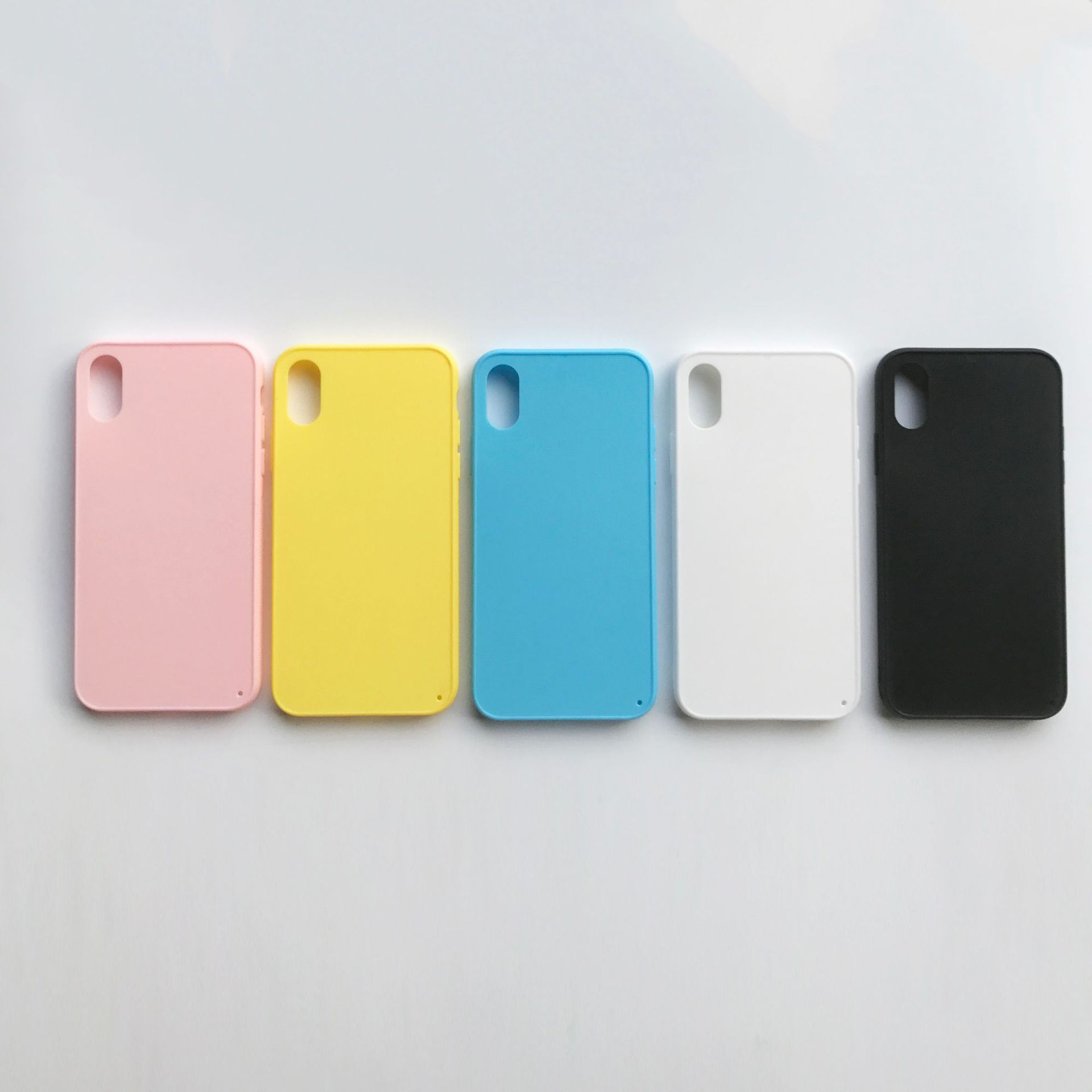 Candy Color TPU PC Anti Slip Grain Phone Case With High Aluminum Film For iPhone X XR Xs <strong>Max</strong>