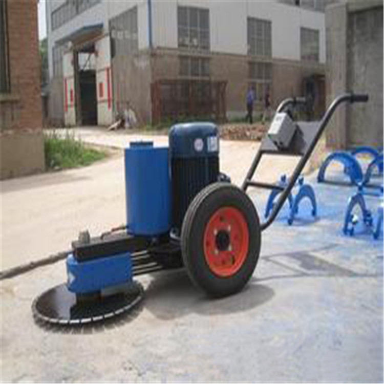 Cement concrete pipe cutting pile machine saw clamp hand push type road cutting machine manufacturers supply