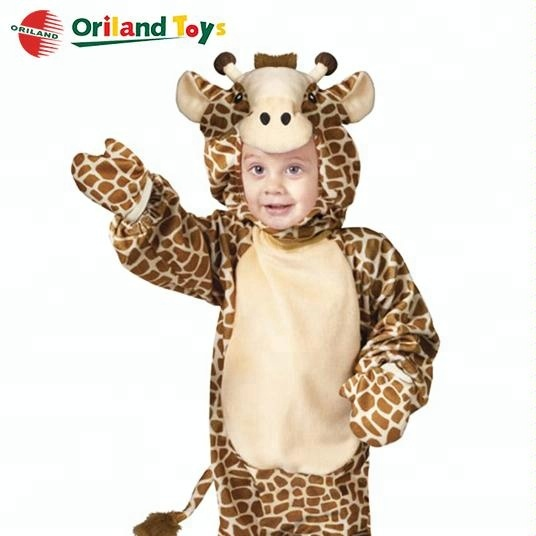 Latest Design soft plush giraffe animal mascot costumes for kids