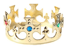 Deluxe Quality Gold Boys Pageant Crown With Stone Decoration