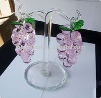 Pink Crystal grape with green leaf MH-G0153