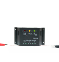 High Quality 12V/24V 10A/12A/15A PWM solar charge controller with Lcd display and usb port