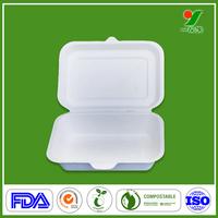 Biodegradable 100% sugarcane fibre disposable foam food containers