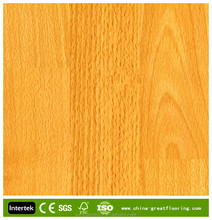 8mm brushed Beech hdf laminate flooring 3-strips texture Wholesale