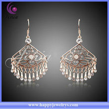China Wholesale Factory Price 18k Gold Plated Fashion Earring With Austrian Crystal Indian Clip On Earrings(LE090)