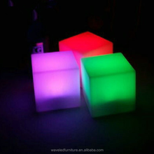 Beauteous led battery powered cube light glow led cube indoor furniture