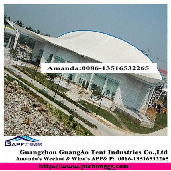 Guangzhou manufactory First Grade tensile fabric roof structure