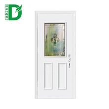 hot sale hollow core metal door exterior/ interior plain white bathroom door