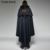 Y-709 PUNK RAVE Gothic Vampire Count Woven Mens Blue cape Poncho Coat