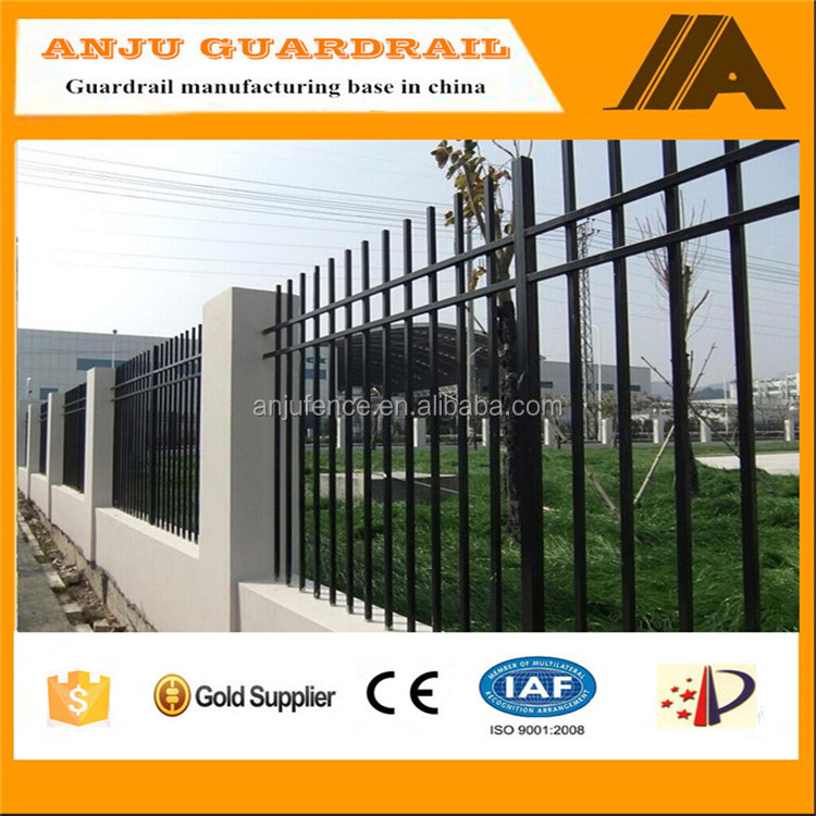 DK008 Black powder coated wrought iron metal fence(Australia standard)