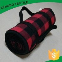 Plaid Printed Waterproof Picnic Rugs Portable Rolled Blanket for Picnic