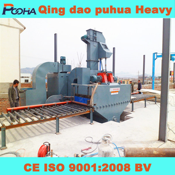 2013 new products alibaba py Q69 Steel plate shot blast clean-up machine highy quality painting line for multi steel structure