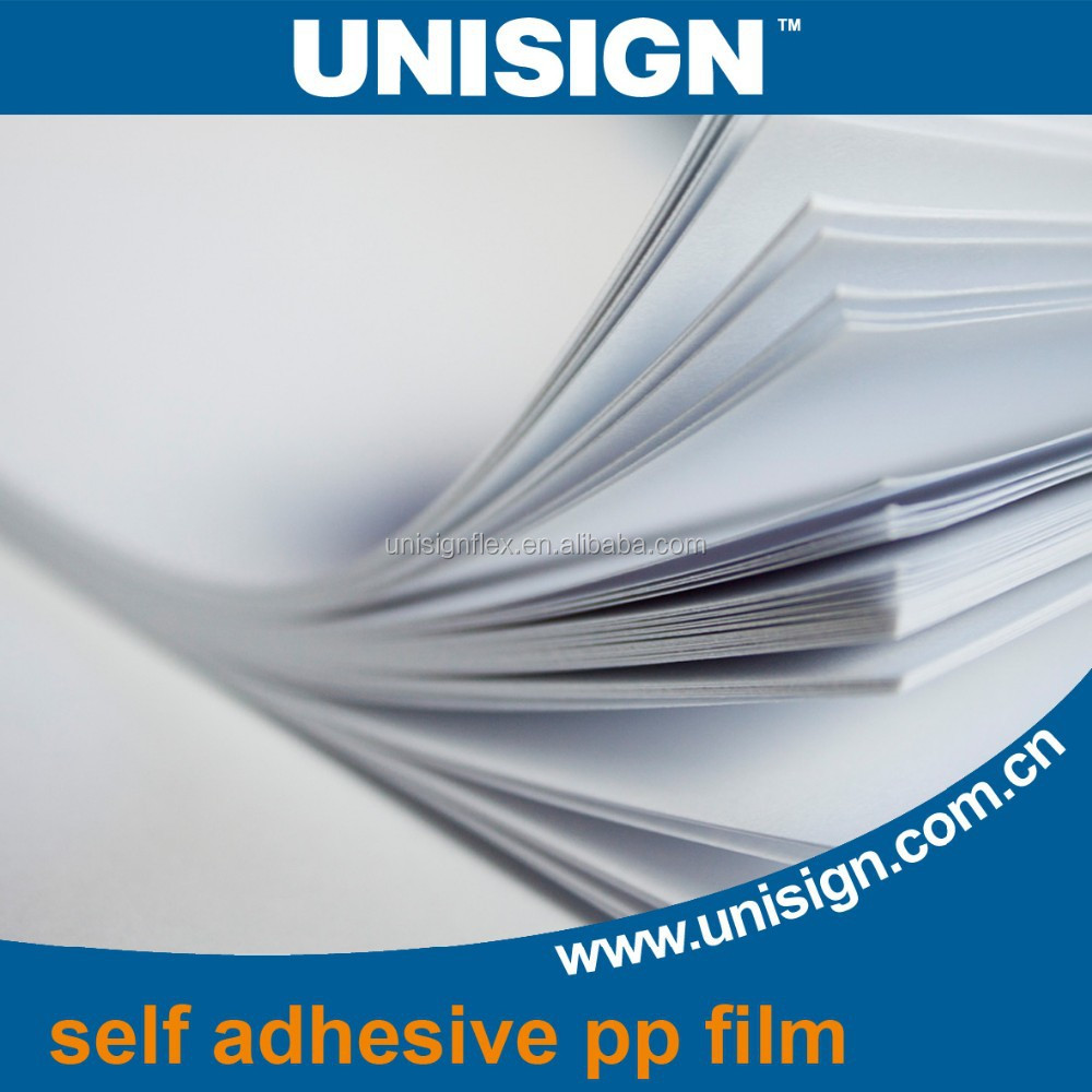 Low price waterproof self adhesive sticker PP Synthetic Paper
