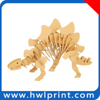 DIY educational toy Dinosaur 3D paperboard puzzle