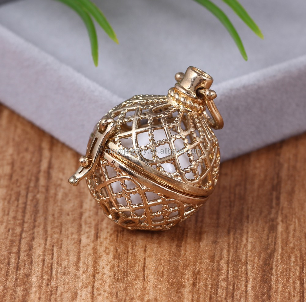 Mesh Ball Pendant Angel Caller Harmony Bola For Mothers-to-be Chime Jewelry Gifts For Babe Prenatal Education Charm Musical Ball