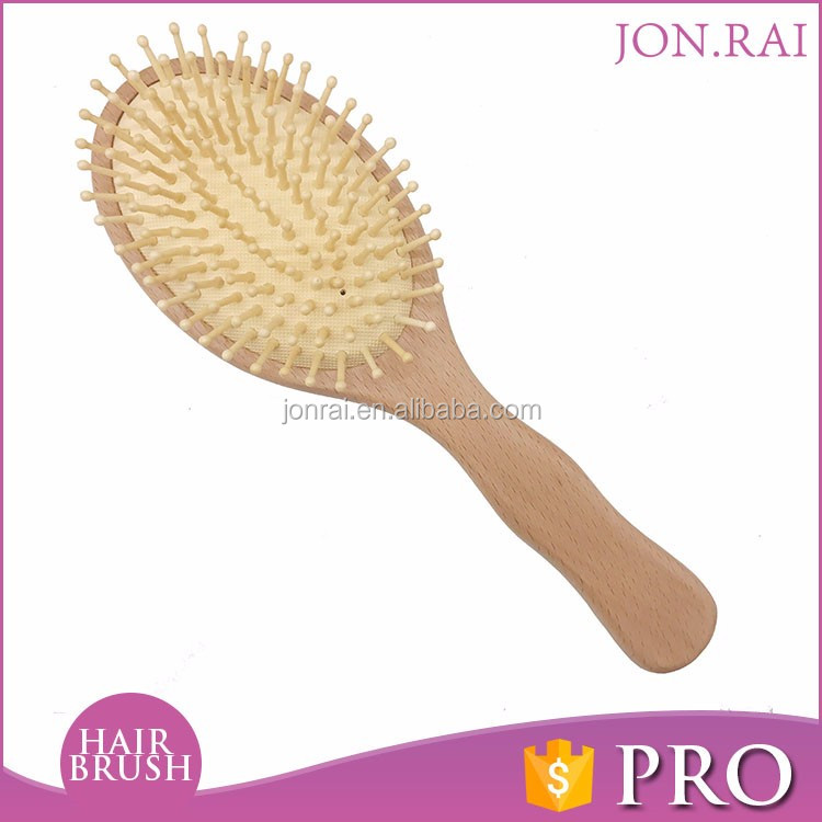 High quality china famous brand Natural bamboo nylon hair brush