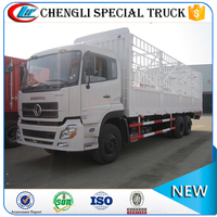 China low price dongfeng 6x4 10 wheeler Heavy Duty 20000l Cargo Van Truck 25ton left hand drive for sale