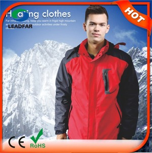 7.4V Battery Powered Winter Outdoor Climbing Windproof Heated Jackets