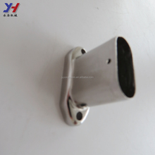 Custom made stainless steel post base stair fitting bracket for handrail for elderly