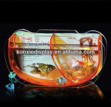 Acrylic Fish display tank stand,Acrylic fish tank stand with photo