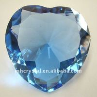 Faux Heart Shape Blue Crystal Diamond MH-9208
