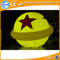 2016 New attractive inflatable light balloon helium balloon with cheap price
