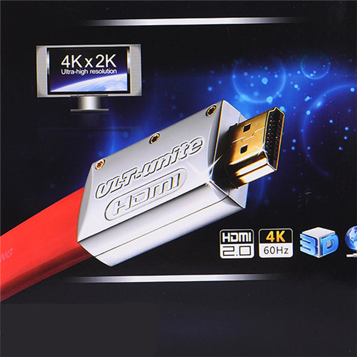Gold plated audio video 3D 2.0 flat HDMI cable 4k