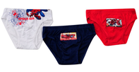 Marvel Official Boys Spiderman 3 Pack Of Briefs Navy/White/Red 2-8 Years