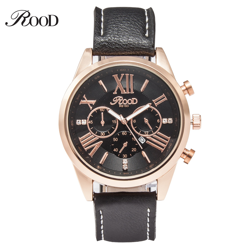Wholesale 7 colors men leather watch 2016 vogue style 2 eyes quartz movement wrist watch for men