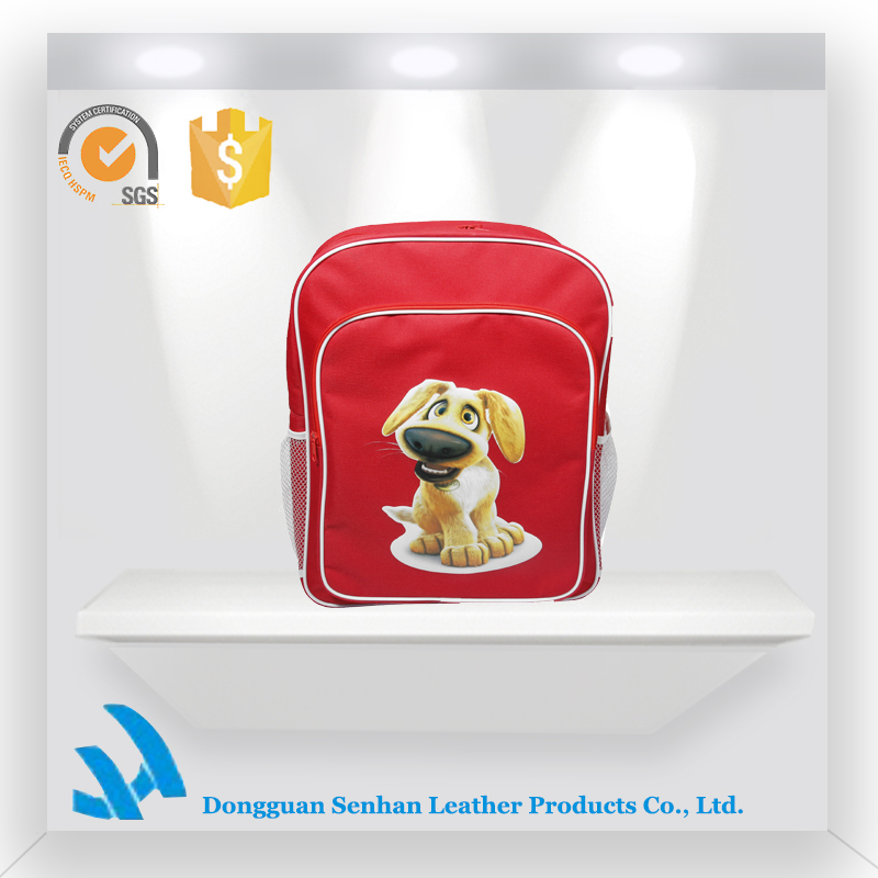 wholesale funny dog patternn school backpack for boys and girls