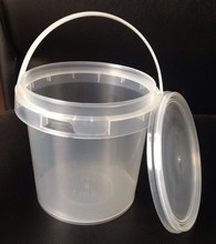 Bucket Type 1 l transparent plastic honey candy cotton candy with lid handle