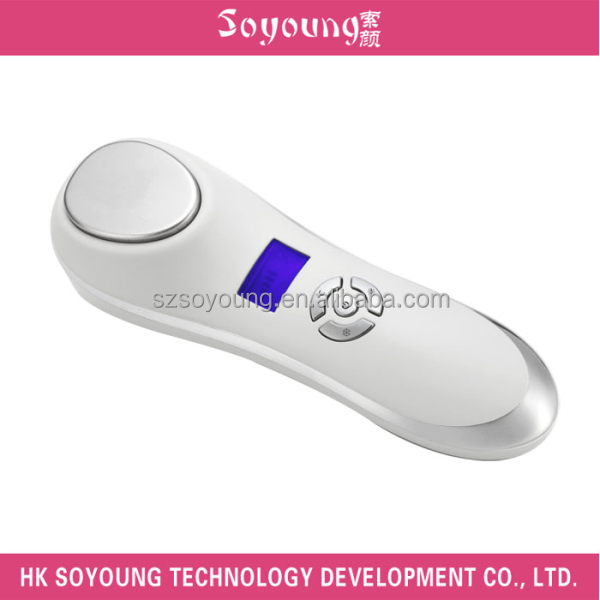 hot and cold facial hammer Handheld Cool Warm Galvanic Beauty Device