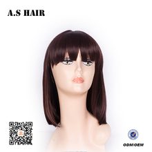 Wholesale Cheap bob Lace Front, Synthetic Wig for Black Women, Synthetic and Human Hair Mix Lace Wig