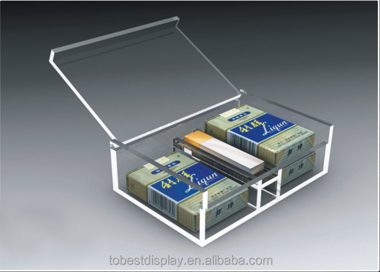 Clear cigarette case box display box, packaging display box