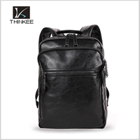 Fashion custom factory oem logo mens leather backpack bag