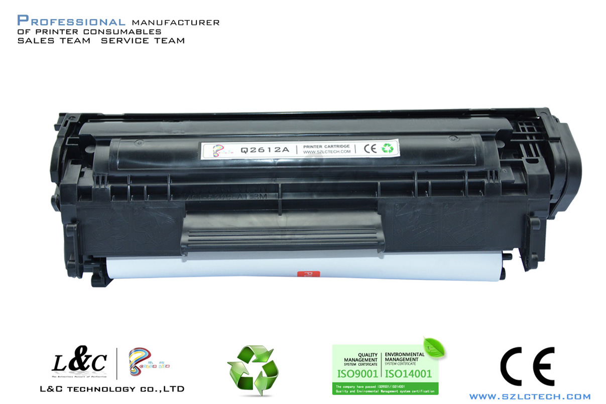supply laser printer parts compatible toner cartridge for hp q2612a