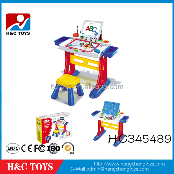 High quality plastic children study desk educational kids drawing desk HC345489