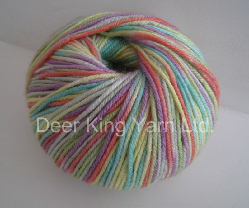 wool acrylic hand knitting yarn worsted wool yarn4/10NM