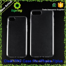 High quality 1mm soft tpu protective clear case cover for iphone 7 7plus case