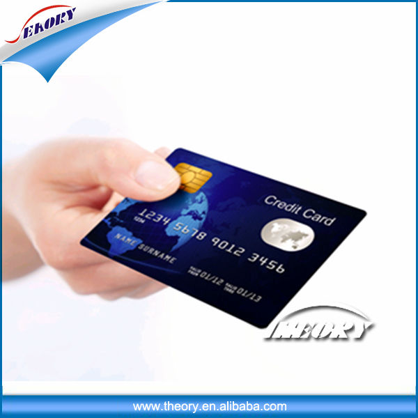 Wholesale contact IC card plastic pvc blank smart rfid card