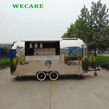 China customized mobile food vending trailer electric food truck