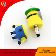 Promotion Gift Advertising Cartoon Animal PVC/Silicone Usb Flash Memory Drive 4GB/8GB/16GB/32GB/64GB With Customized Logo