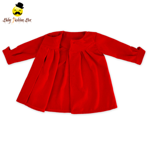New Design Infant Autumn & Spring Jackets Fashion Red Sweet Girls Princess Long Baby Girl Coat