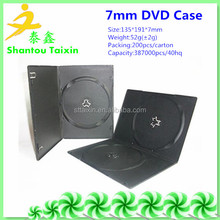 7mm black single/double disc case cd/dvd packaging boxes