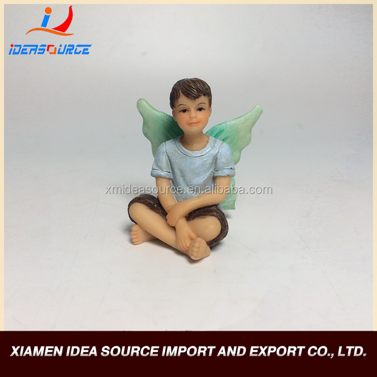 Resin Gift Sitting Boy/Resin Figurine For Resin Crafts