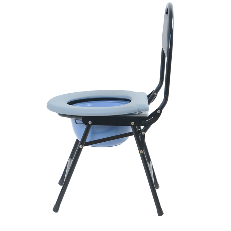 Toilet Chair With Plastic Bucket Medical Commode Chair
